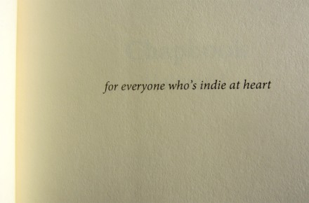 for everyone who's indie at heart