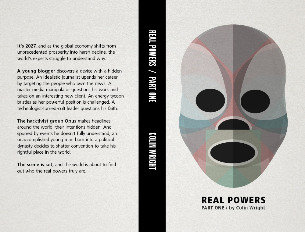 Real Powers Part One print cover spine back