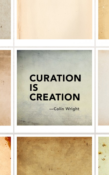 Curation is Creation by Colin Wright book cover